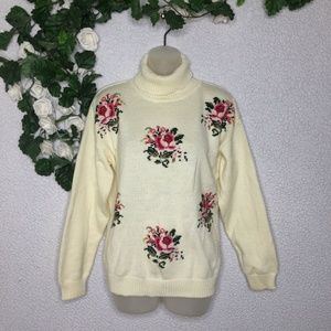 Vintage American Weekend Tapestry Floral Sweater